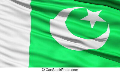 Waving Flag Of Pakistan, or the Flag Of The Crescent and...
