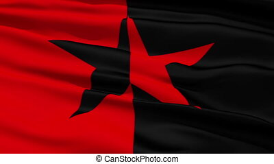 Red and Black Star Flag, symbolising the co-existence of...