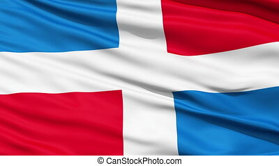 Civil Ensign Of Dominican Republic which lacks the central...