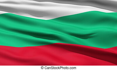 Waving Flag Of Bulgaria, a horizontal tricolor in white,...