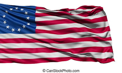 United States Betsy Ross Flag, the first flag of the US with...