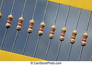 Resistors close up