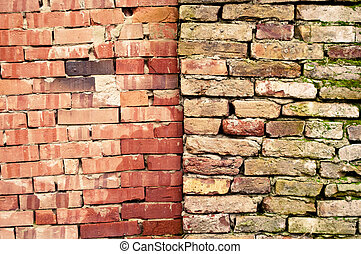 Two brick walls