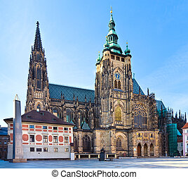 St. Vitus Cathedral , Prague, Czech Republic - The south...