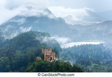 Neuschwanstein Castle in Bavaria Germany - Historic medieval...