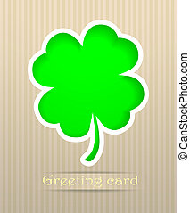 Clover postcard vector illustration