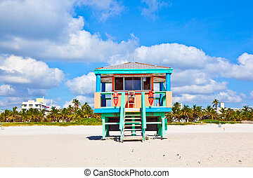 beachlife at the white beach in South Miami - wooden...
