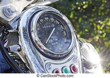 Chromed odometer - chromed motorcycle odometer under the sun