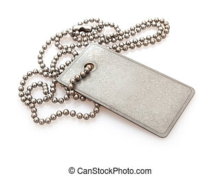 Dog Tag - Shiny Blank Metallic Military Identification Plate...