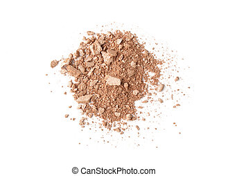 shadows - beige scattered eyeshadows isolated on white...