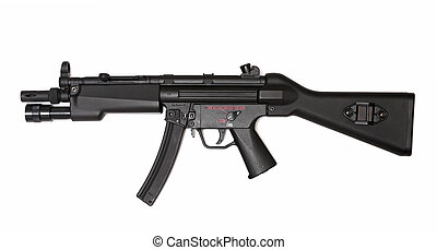 Modern submachine gun, side view Weapon series - MP5 -...