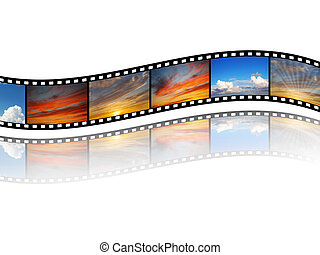 Film with sky images