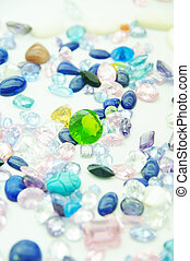 jewel - precious jewel stones in an outlay