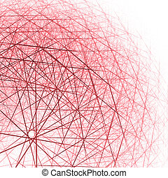 3d spherical structure red