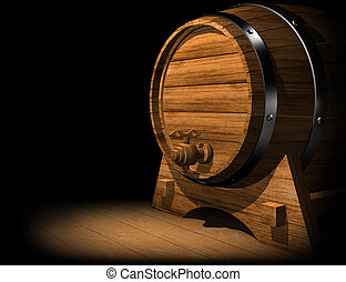 OAK WINE BARREL - OLD OAK WINE OR BEER BARREL