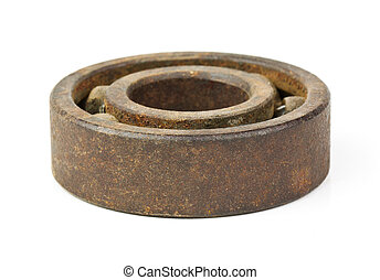 Old bearing on a white background