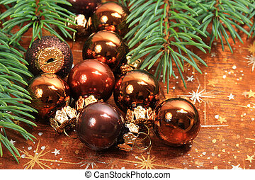 Christmas baubles - Christmas small baubles and fresh...