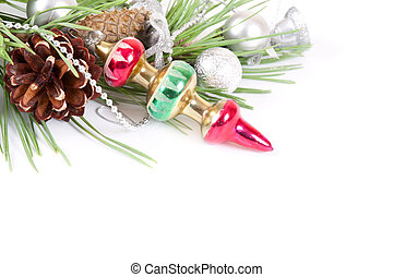 Christmas background with old decoration