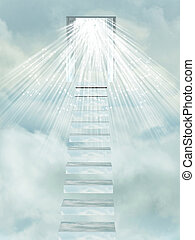 Stairway to Heaven's gate. - Ascending stairway to heaven...