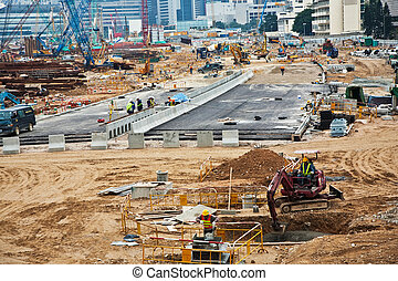 roadmaking in Hong Kong center in Victoria