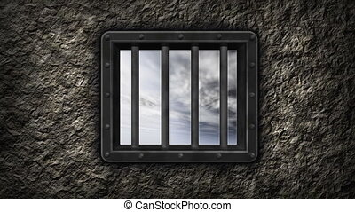 hope - view trough prison window