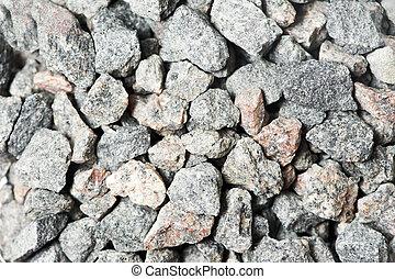 esmagado, pedras, texturas