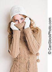Getting cold. - Half length portrait of fashionable young...