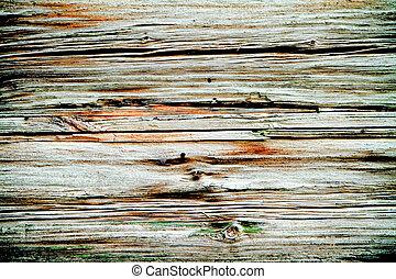 de madera, marrón, viejo, resistido, textura