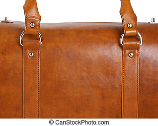 brown leather case, close - closeup of brown leather case