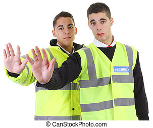 Two security guards