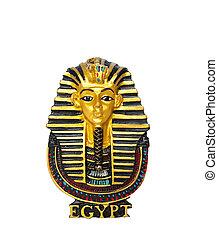 gyllene, begrepp, egyptisk, egypten, maskera, resa, -,...