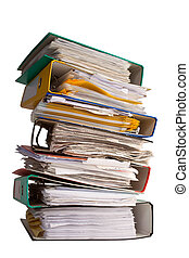 The pile of file binder with papers - pile of file binder...