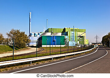 power plant of an Industry Park in beautiful landscape near...