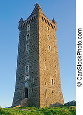 Ancient Scrabo Tower in Northern Ireland