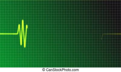 faith - ecg curve with christian cross