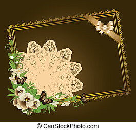 Flowers with lace ornaments