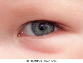 infant eye macro