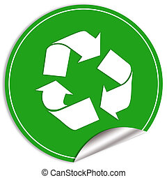 Recycle sticker - Recycle green sticker