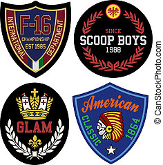 badge design set