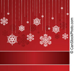 Christmas background with snowflake - Beautiful Christmas...