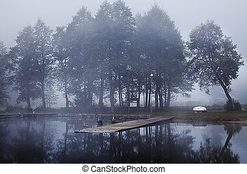 Wigry national park - Wigry Lake in Wigry National Park in...
