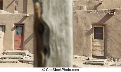 Three Doors, Taos Pueblo, New Mexico, dolly