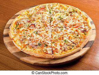 Tasty Italian pizza.Neapolitan