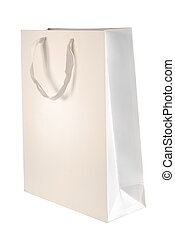 Paper bag template - Paper bag template isolated on white...