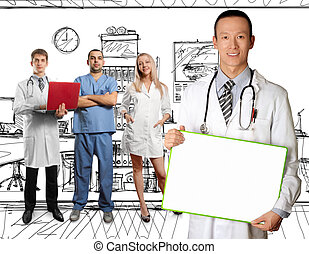 young doctor man with stethoscope - doctor with stethoscope...