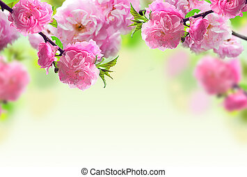 Abstract Pink Flower Design