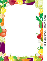vegetables vector frame