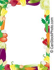vegetables vector frame