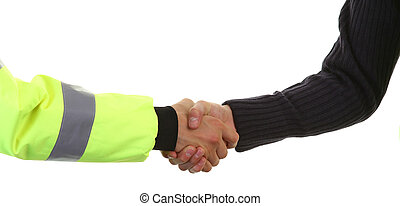 security handshake - A hand shake between two security...