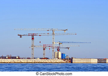 Under construction of Petrochemical plant,Venice Italy